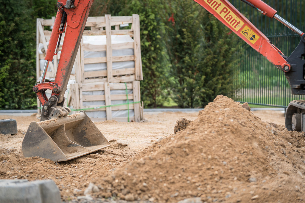 laying groundwork for landscaping
