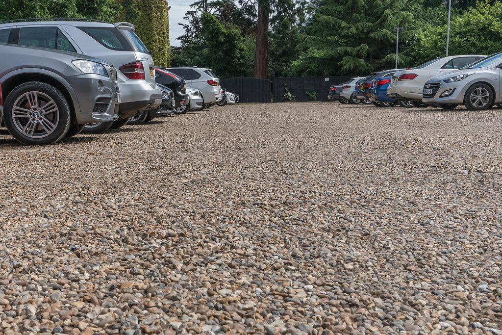 stony commercial driveway