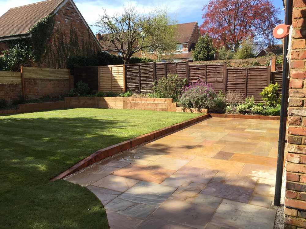 modern patio residential garden