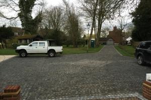 granite sett driveway finished product