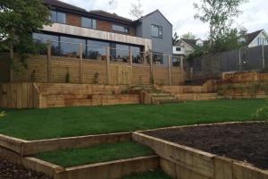 modern layered residential garden in marlow