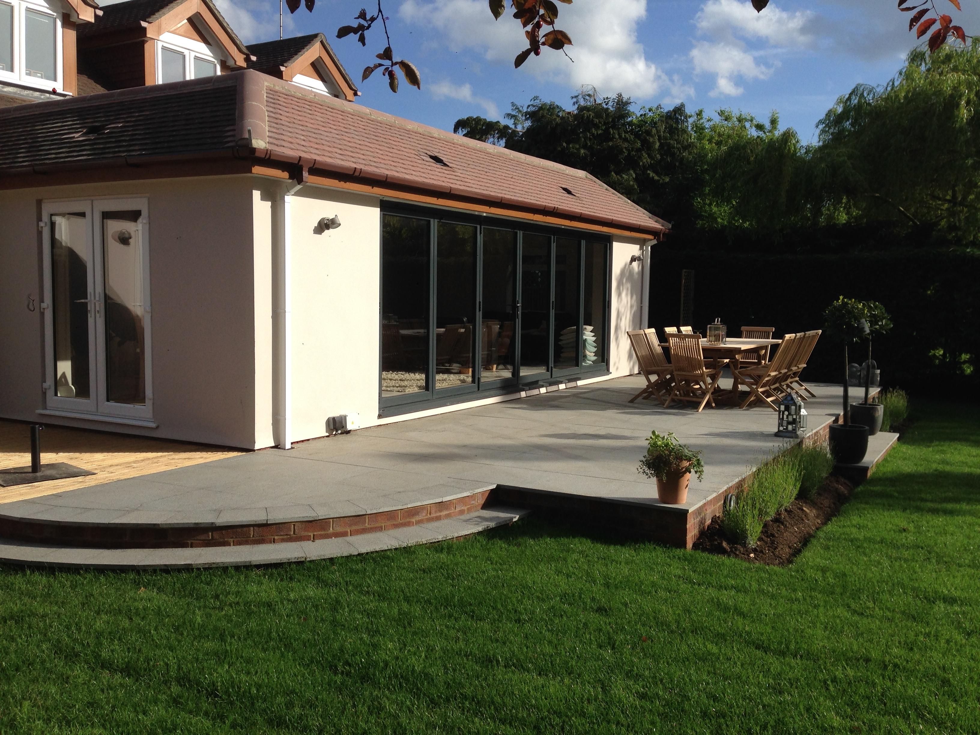 modern residential landscaped garden