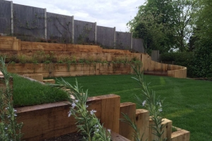 Multi level garden in Marlow