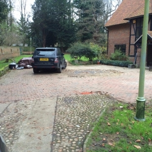 old driveway in need of refurbishment