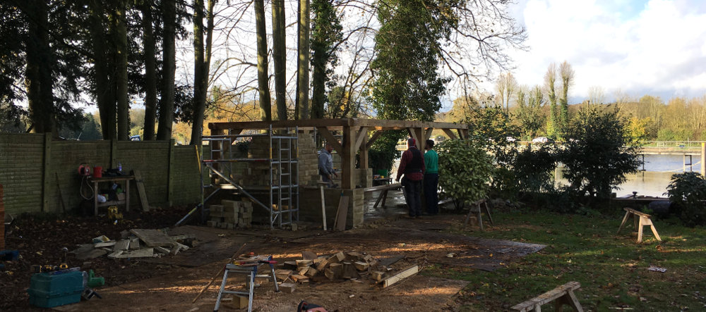 Building A Lapa In Marlow Thames Valley Landscapes