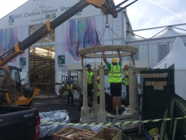 building feature at chelsea flower show
