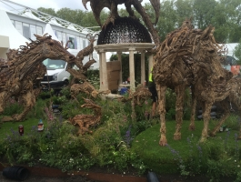 front view of chelsea flower show