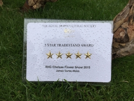 5 star award from royal horticultural society