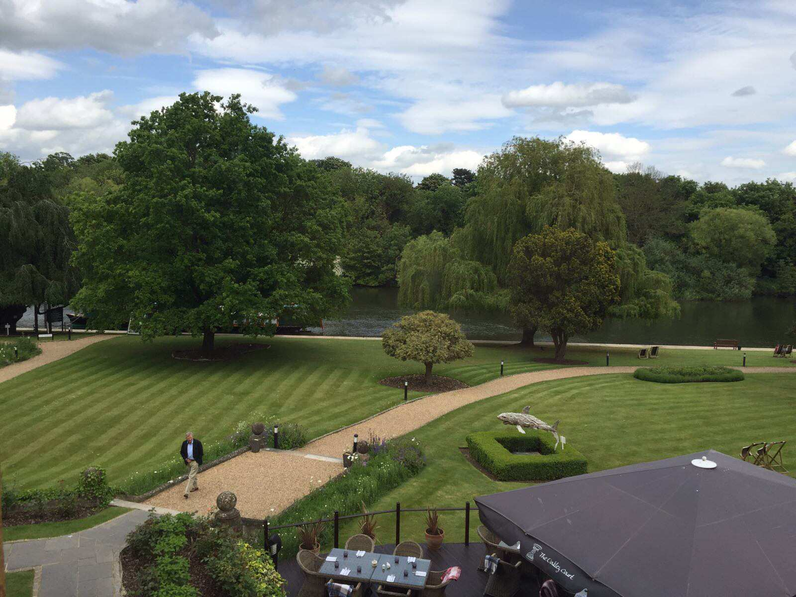 aerial view of oakley court grounds