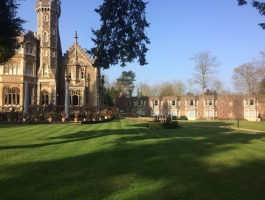 maintained grounds at oakley court hotel