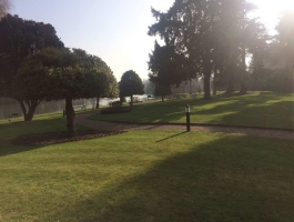 pathway to river at oakley court hotel