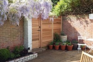 Cedar screening and gate