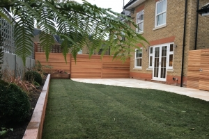 Cedar screening for residential landscaping