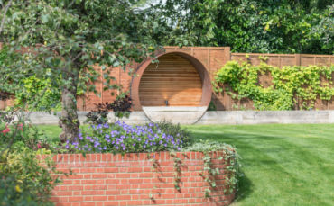 landscaped residential garden