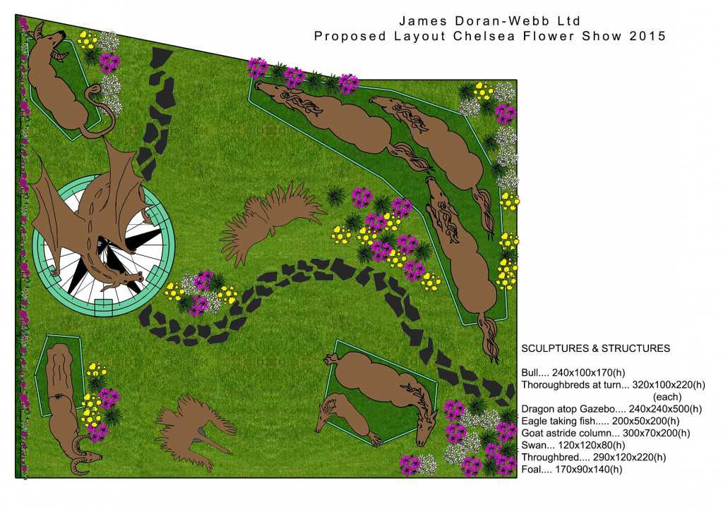 landscape plan for Chelsea Flower Show
