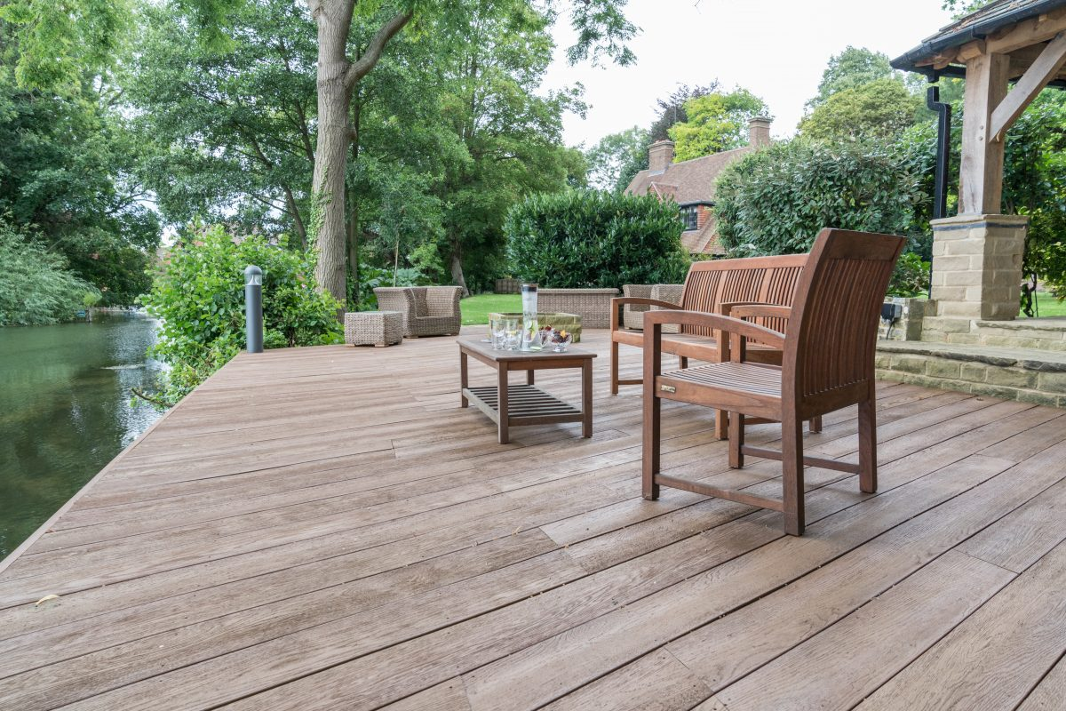 Millboard decking used on riverside project