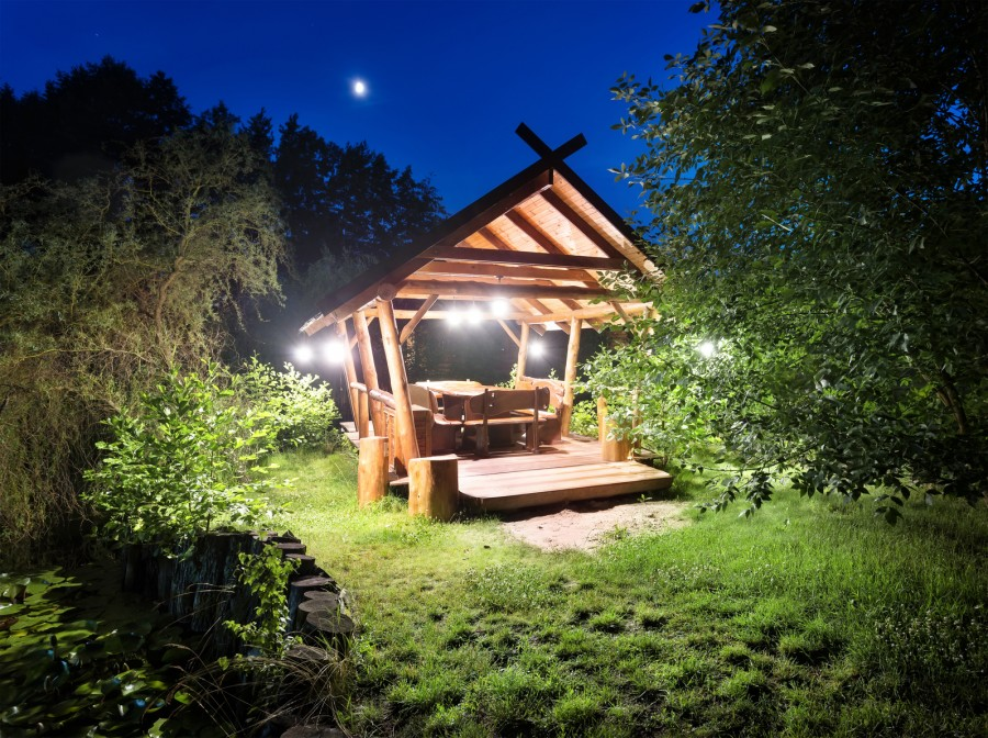 landscape lighting for outdoor space