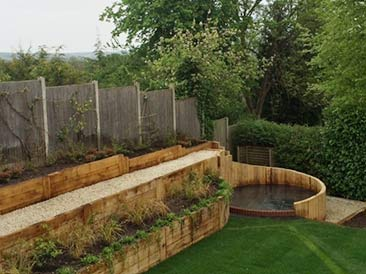 image of garden after landscaping