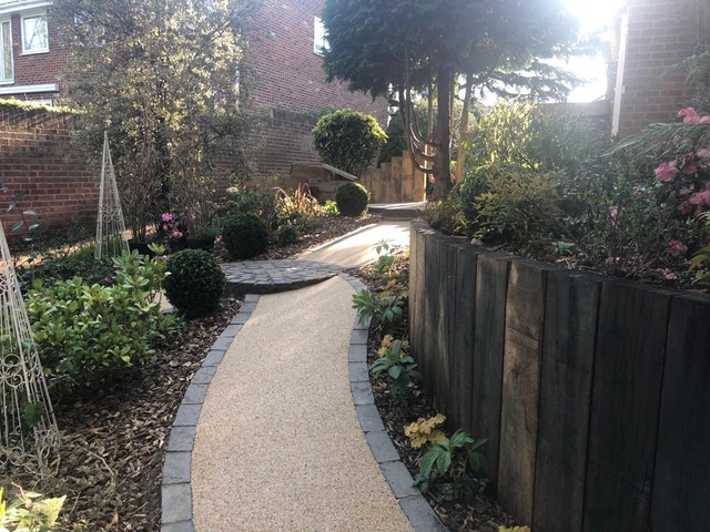 professionally finished resin bonded path