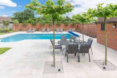 Pleached trees to provide shade